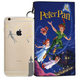 Disney's Peter Pan Jelly Clear Case For Apple Iphone 7 + Pouch