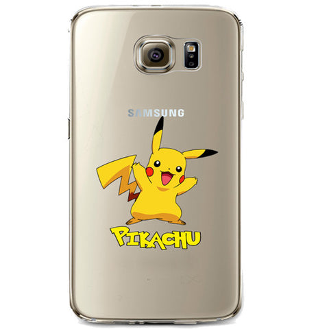 Pokemon Pikachu Jelly Clear Case for Samsung Galaxy S6