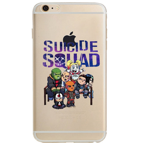 "Suicide Squad Jelly Clear Case for Apple iPhone 6/6s PLUS (5.5"")"