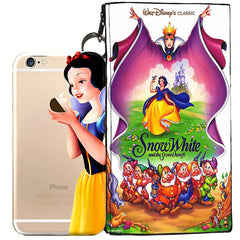 Disney's Snow White Holding Logo Clear Case For Apple Iphone 5c + Pouch