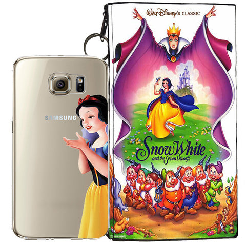 Disney's Snow White Jelly Clear Case For Samsung Galaxy S6 + Pouch