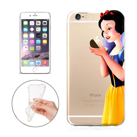 buy online a0cd1 5644d Disney's Snow White Jelly CLear Case For Apple Iphone 5 /5s /SE
