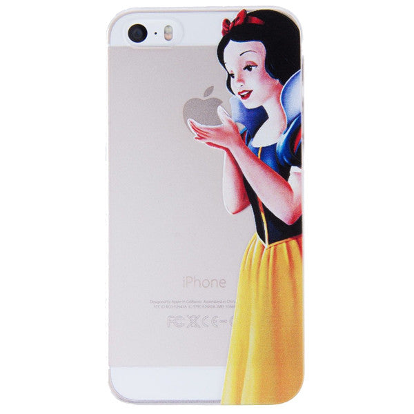 super popular 63ce0 bf4cc Snow White Holding Logo Clear Transparent Case For Apple Iphone 6/6s