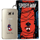 Spider-Man Jelly Clear Case For Samsung Galaxy S7 + Pouch