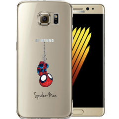 Spider Man Jelly Clear Case for Samsung NOTE 7