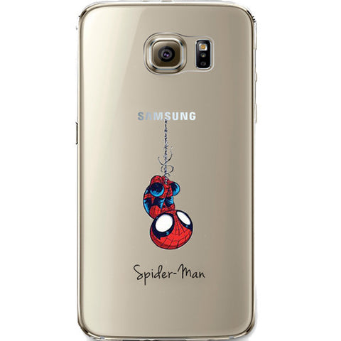 Spider Man Jelly Clear Case for Samsung Galaxy S7