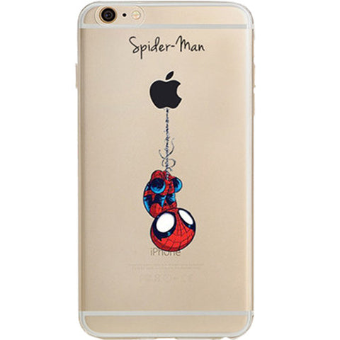 new concept 3cef9 428a1 Spider Man Jelly Clear Case for Apple iPhone 6/6s PLUS (5.5