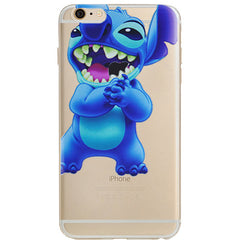 Disney Lilo & Stitch Eating Jelly Clear Case For Apple Iphone 7