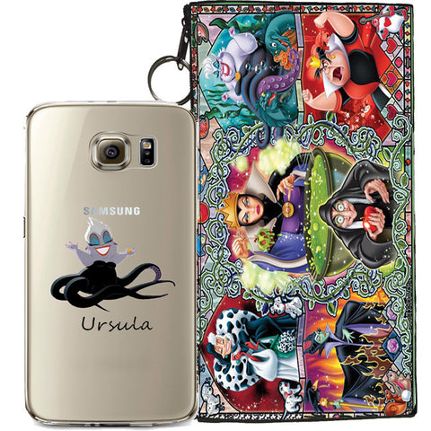 Disney's Villains (Ursula) Jelly Clear Case For Samsung Galaxy S6 + Pouch