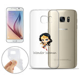 Wonder Woman Jelly Clear Case For Samsung Galaxy S7 EDGE + Pouch