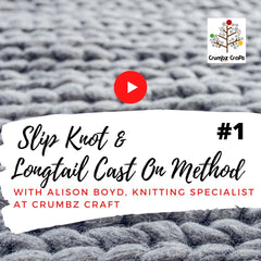 Slip Knot & Longtail Cast on Method