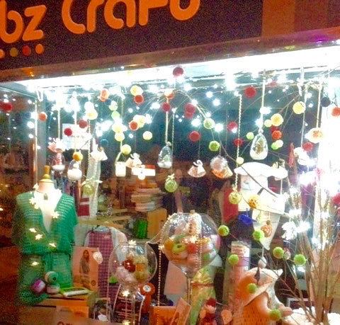 Crumbz Craft's Christmas window 2015