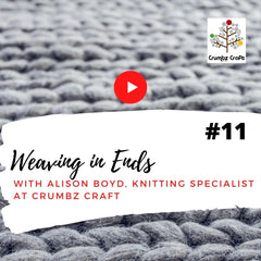 Weaving in Ends Video | Crumbz Craft