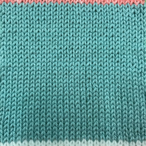 always knit a tension square before you start a project