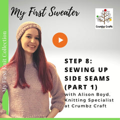 My First Sweater - Step 8 - Sewing up Side Seams Part 1