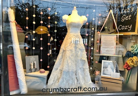 Crumbz Craft dress window