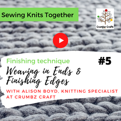 Weaving in Ends and Finishing Edges