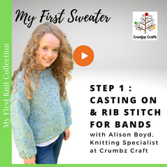 Step 1: Casting on & Rib Stitch for Bands