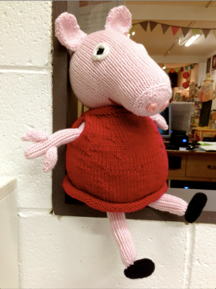 Peppa Pig - the knitted version in the Crumbz Store