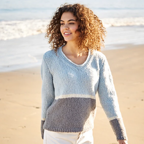 10052 Girlfriend V-Neck Sweater Pattern