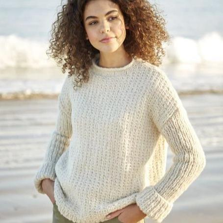 10054 Girlfriend Textured Pullover Pattern