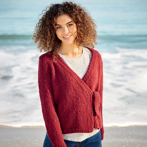 10055 Girlfriend Wrap Cardigan Pattern