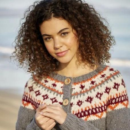 10057 Girlfriend Stranded Cardigan Pattern