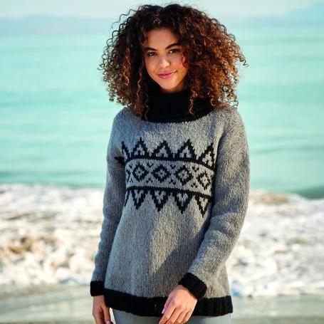 10058 Girlfriend Geometric Sweater Pattern