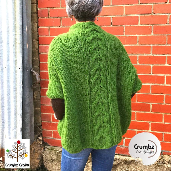 COD025 Cable Poncho (Digital Pattern)