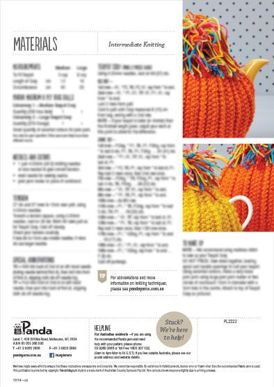 Knitted Tea Cosy Leaflet 602