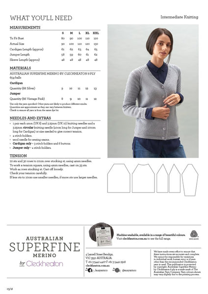 470 Jumper & Cardigan with Feature Raglan