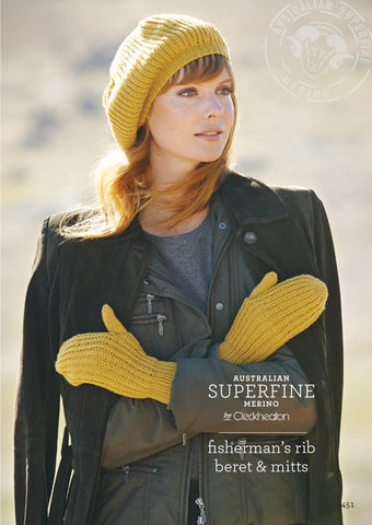 451 Fishmerman's Rib Beret & Mitts