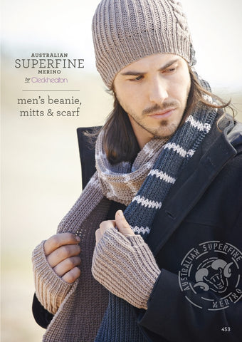 453 Men's Beanie Mitts & Scarf