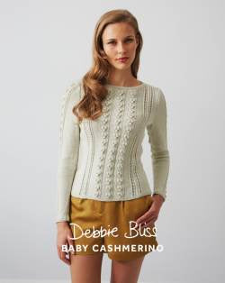 DB114 Bobble Cable and Eyelet Sweater Leaflet RRP$6.75