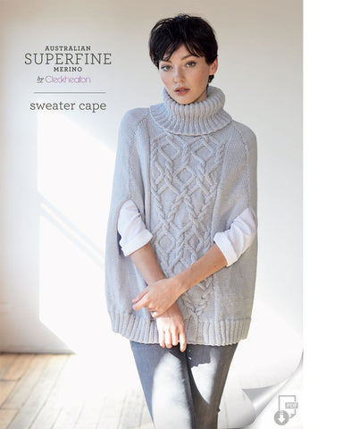 Superfine Merino - Sweater Cape