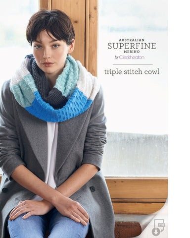 Superfine Merino - Triple Stitch Cowl