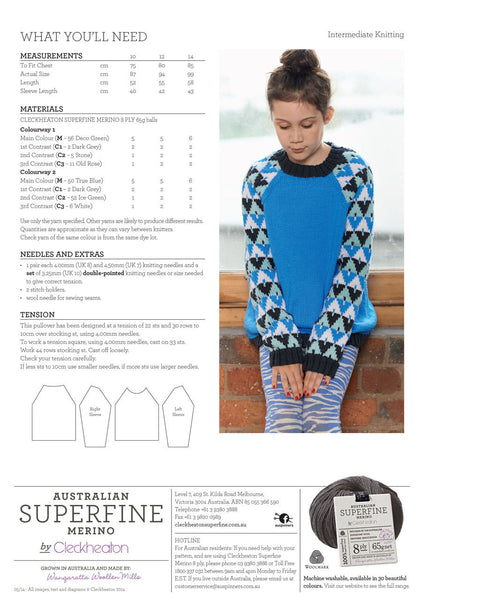 Superfine Merino - Tweens Graphic Pullover