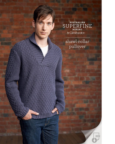 Superfine Merino - Shawl Collar Pullover