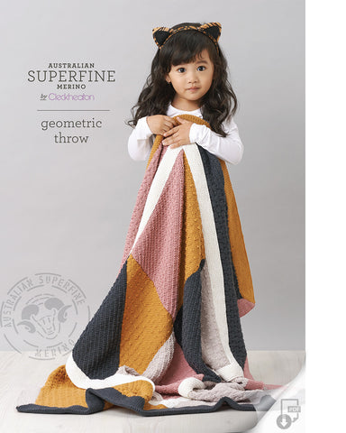 Superfine Merino - Geometric Throw 454