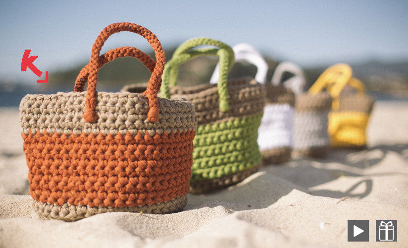 Crochet Beach Bag Leaflet Tx233