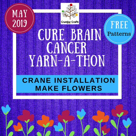 Cure Brain Cancer Foundation Flowers (free digital patterns)