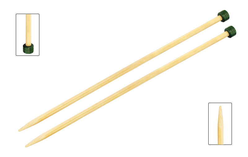 Bamboo Single Pointed Needles 30 cm