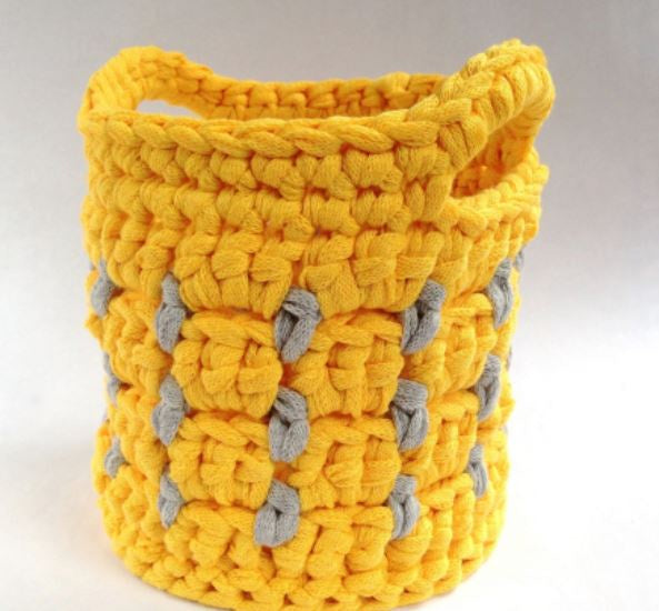 1513 Little Dots Crochet Pot (Digital Pattern)
