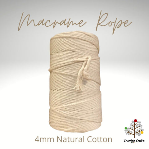 Macrame Cotton 4mm Natural
