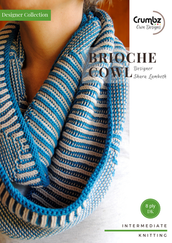Brioche Cowl Pattern & Kit