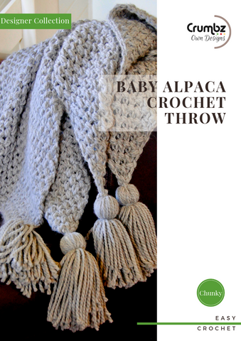 COD017 Baby Alpaca Crochet Throw (Digital Pattern)
