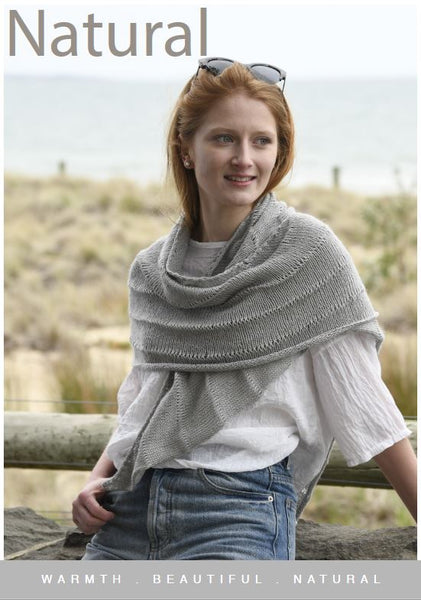 CY087 Natural Shawl (digital pattern)