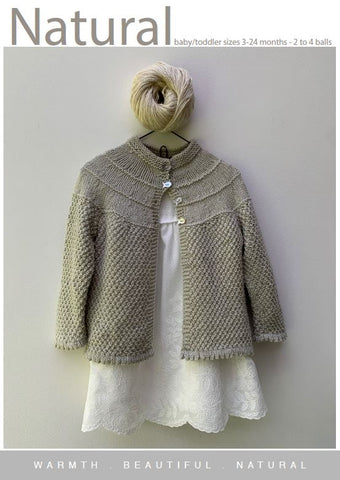 CY091 Baby Yoke Cardigan  (Digital Pattern)