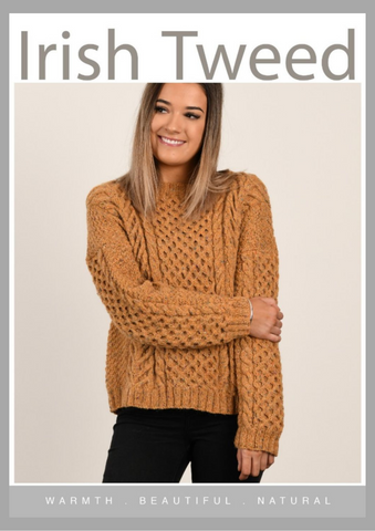 CY081 Golden Ash Aran Sweater (Digital Pattern)