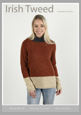 CY123 Two Tone Sweater  (Digital Pattern)
